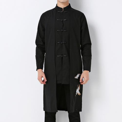 唐装刺绣棉麻外套长衫