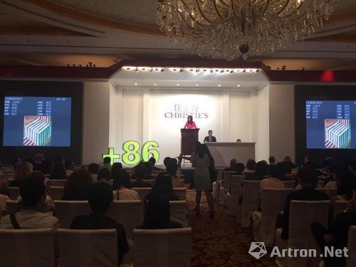 """佳士得上海首推专场""""+86First Open中国当代艺术拍卖""""成交率96.9%"""