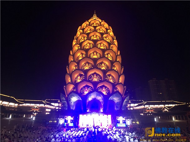 般若山宝林寺大型中秋节祈福晚会圆满举行_佛陀-明灯-您的-祈福-晚会