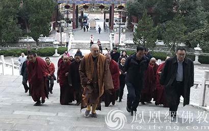 西藏宗教界考察团参访合肥开福禅寺_考察团-禅寺-西藏-和尚-宗教界
