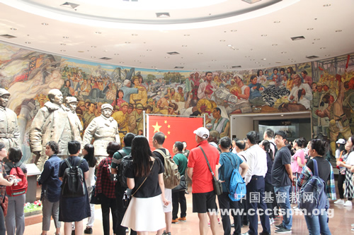 北京市基督教两会第一期义工神学班开展爱国主义教育活动_基督教-北京市-战役-纪念馆-基督教-北京市-学员们
