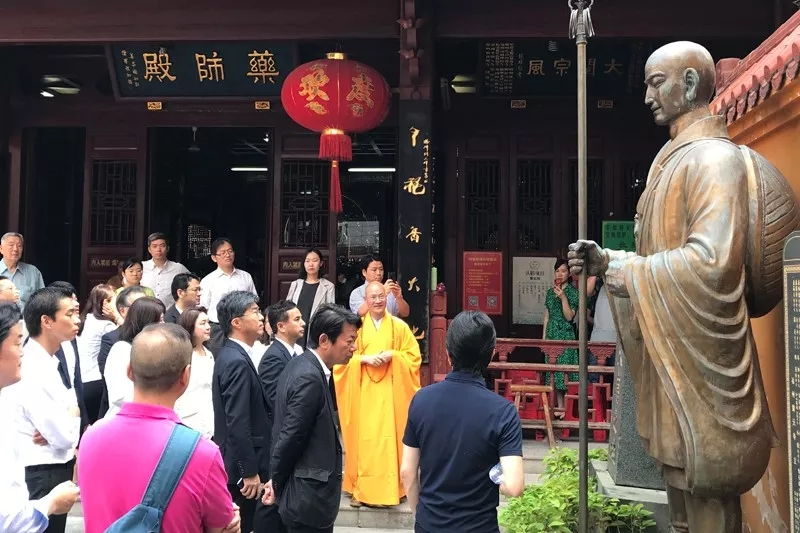 日本代表团一行参访福清黄檗山万福寺、福州开元寺_日本-万福-福州-黄檗-佛教